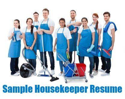 12 Sample Housekeeping Resumes Sample Templates